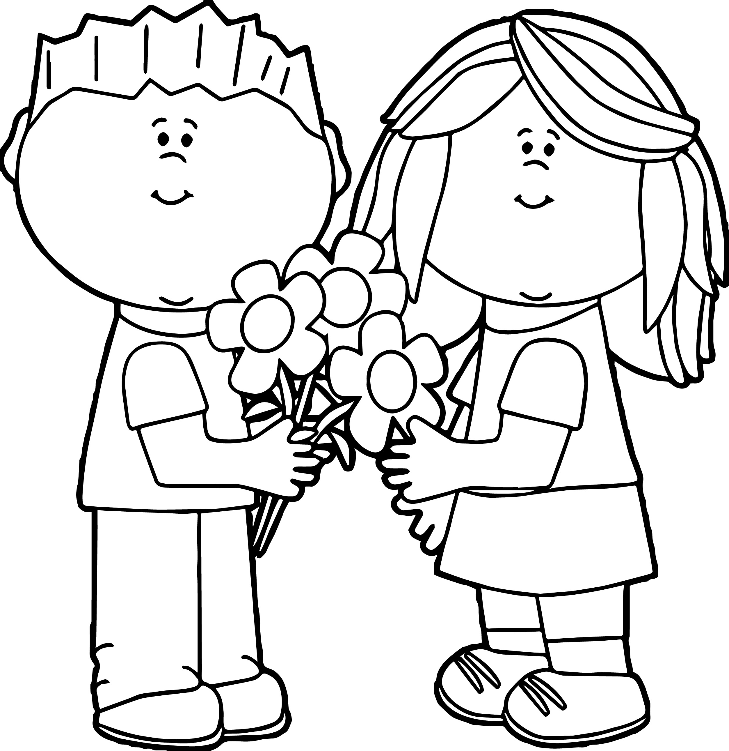 Kids Black And White Clipart