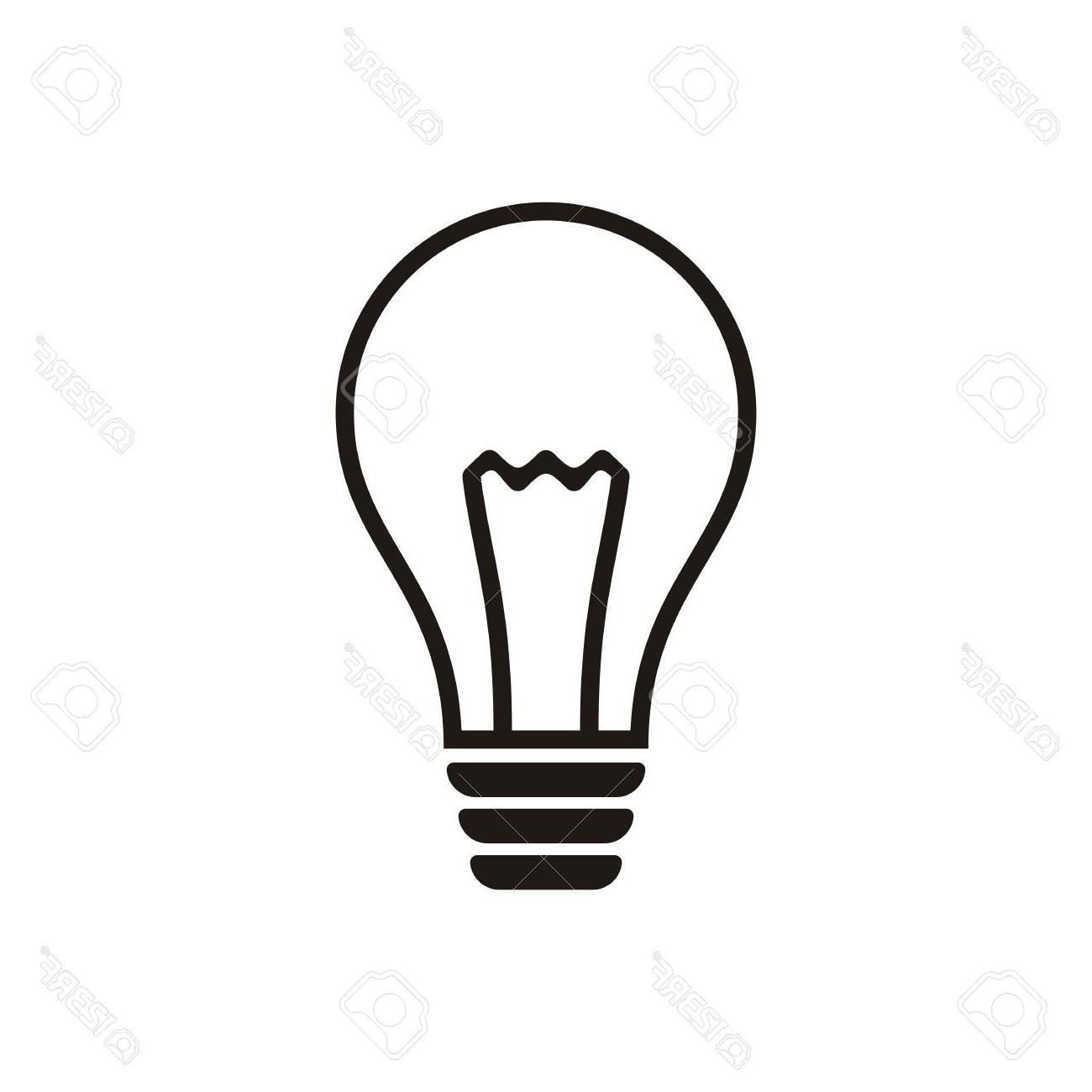 Light Bulb Black And White