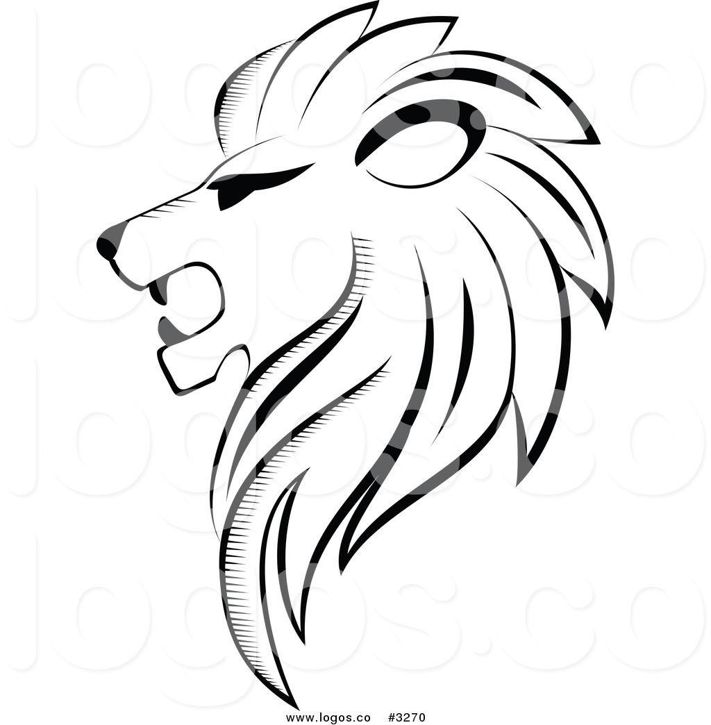Lion Face Cartoon Clipart