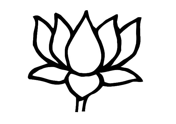 lotus flower outline  free download on clipartmag