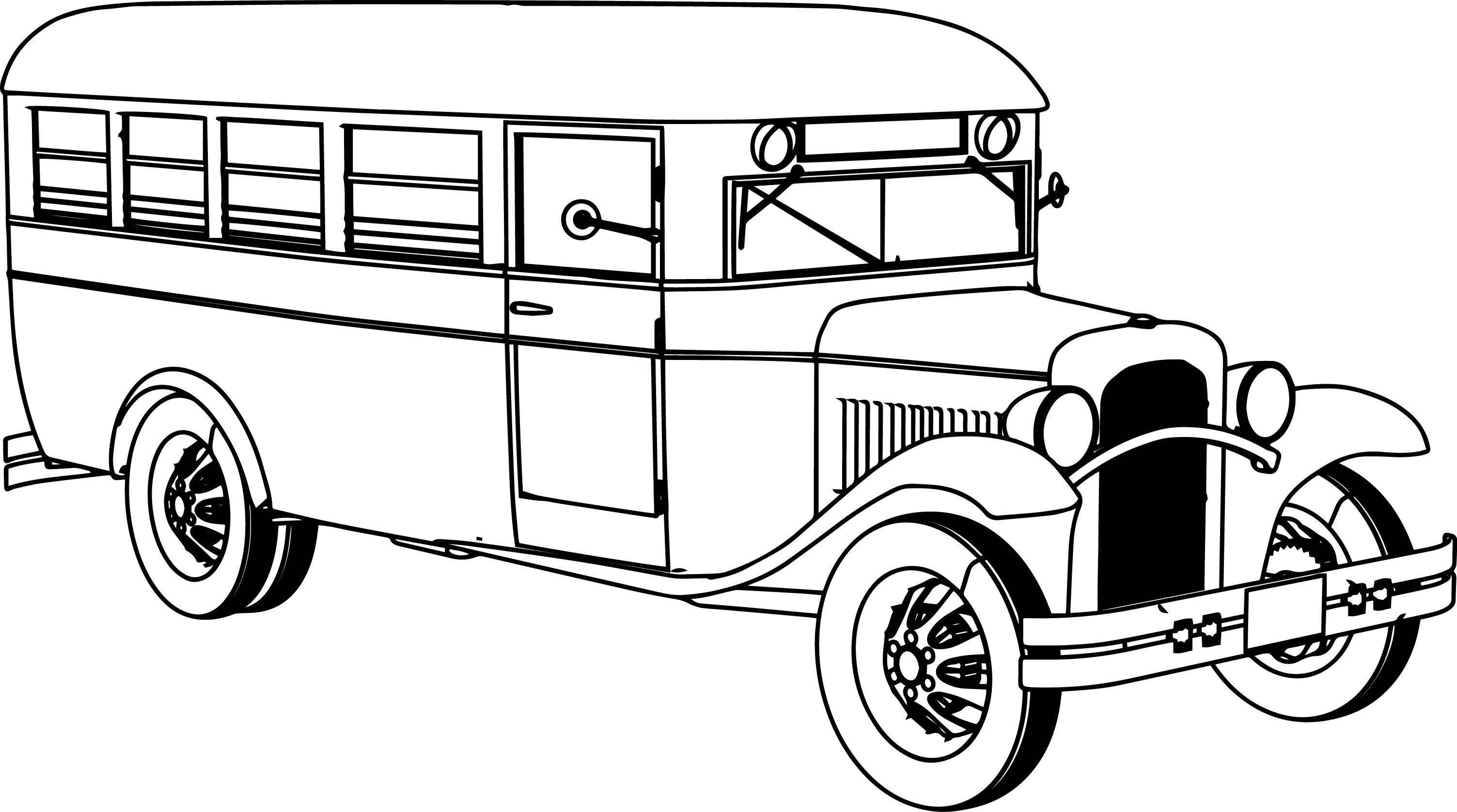 Preschool Worksheet School Bus