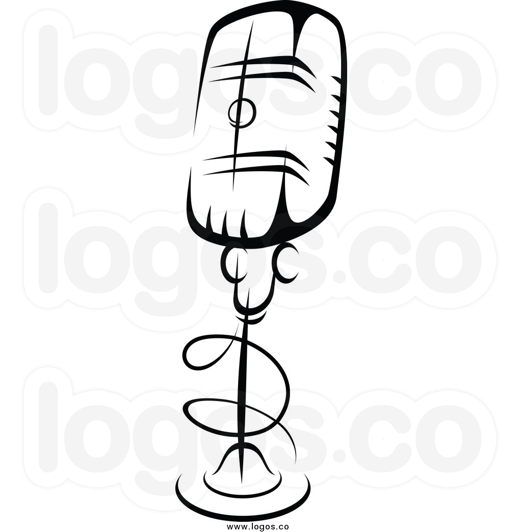 Microphone With Music Notes