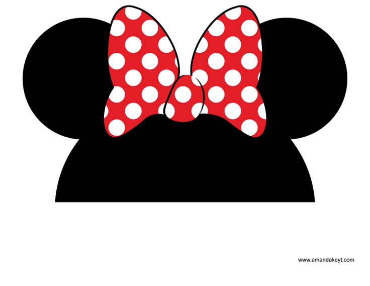 Minnie Mouse Bow Template Clipart Free Download On Clipartmag
