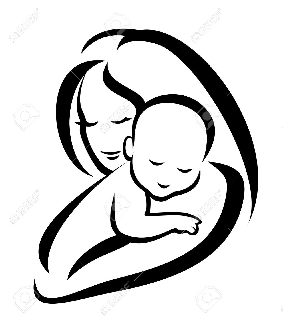 Mother And Baby Clipart Free
