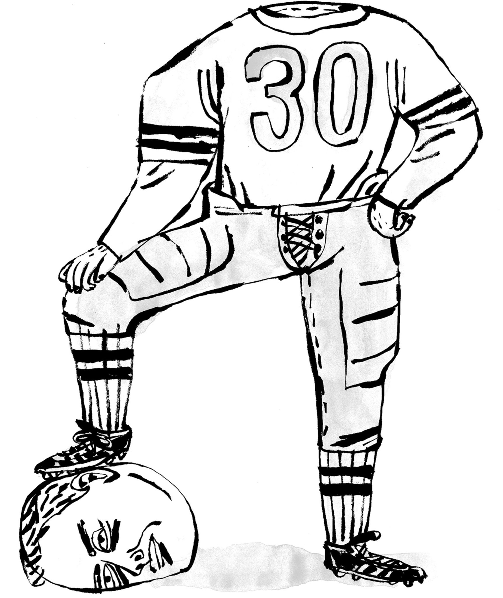 Nfl Player Drawings