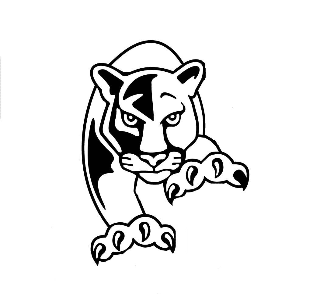 Panther Clipart Black And White