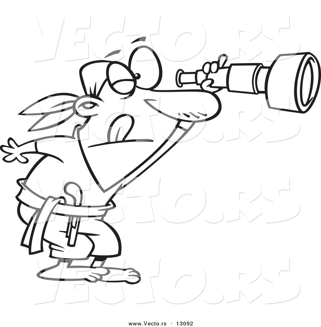 Pirate Telescope Clipart