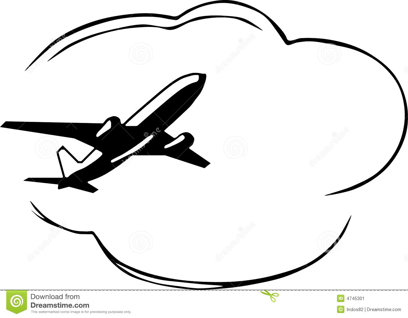 Plane Clipart Black And White