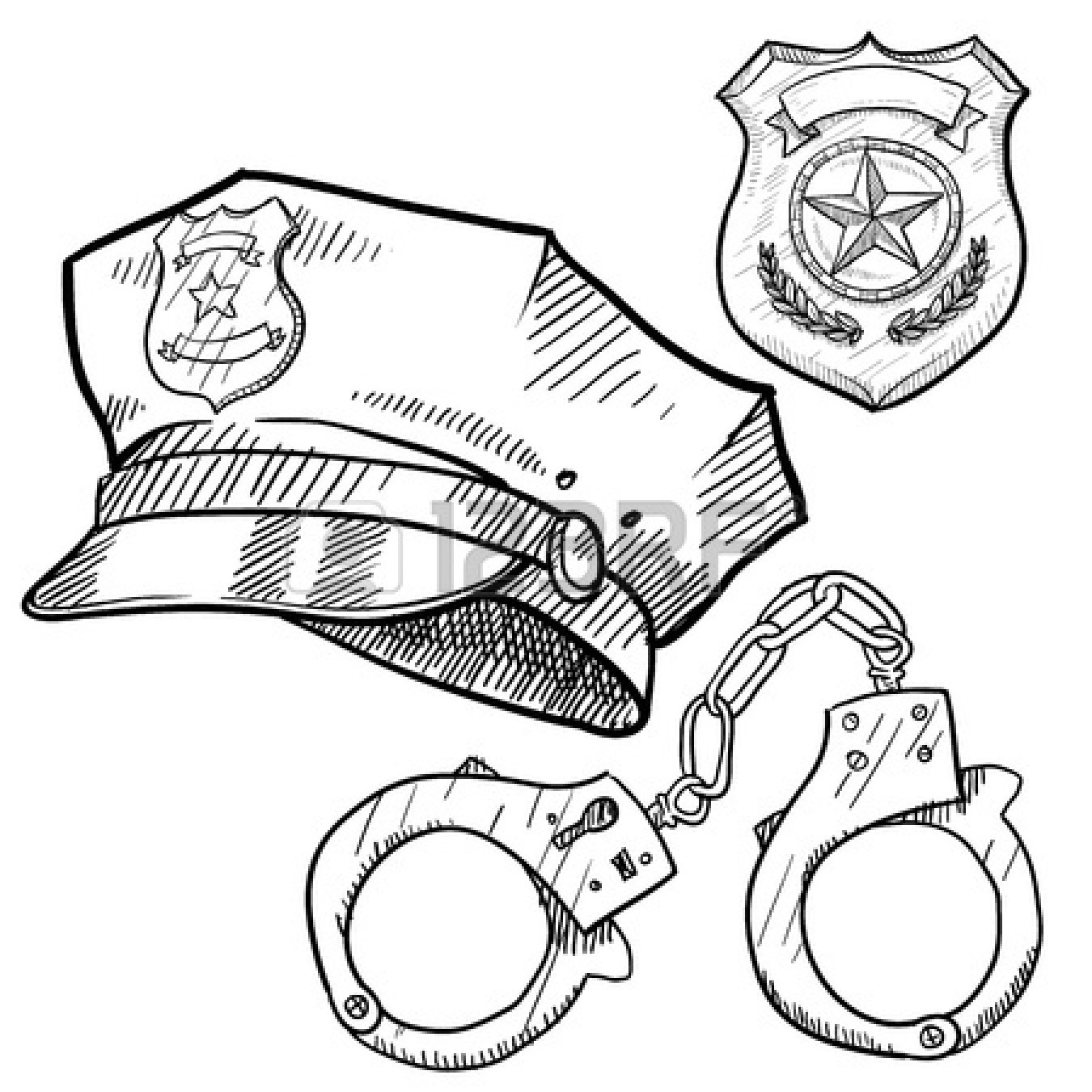Police Badge Clipart Black And White