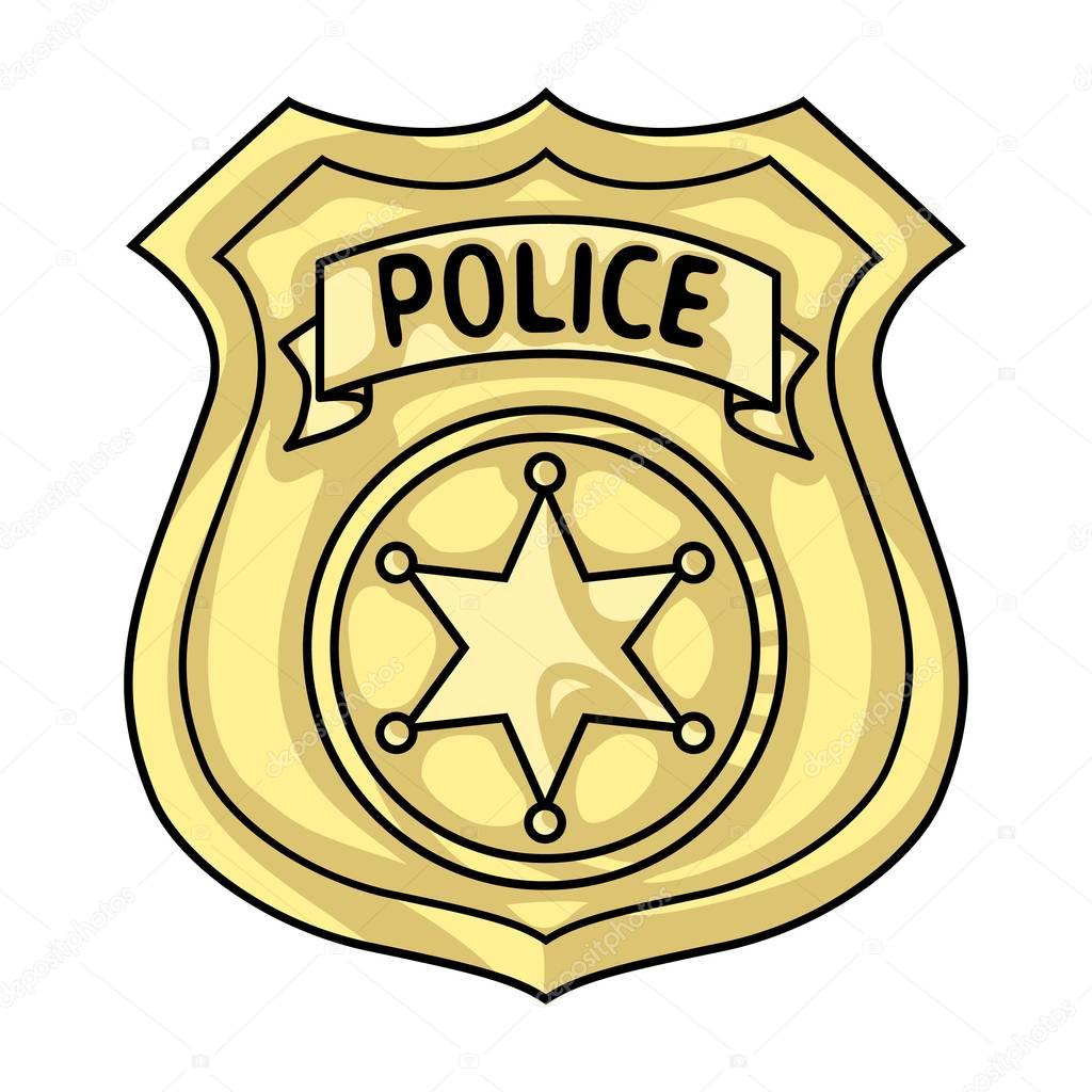 Police Shield Outline