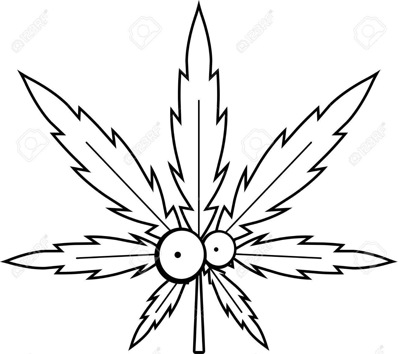 Pot Leaf Drawing