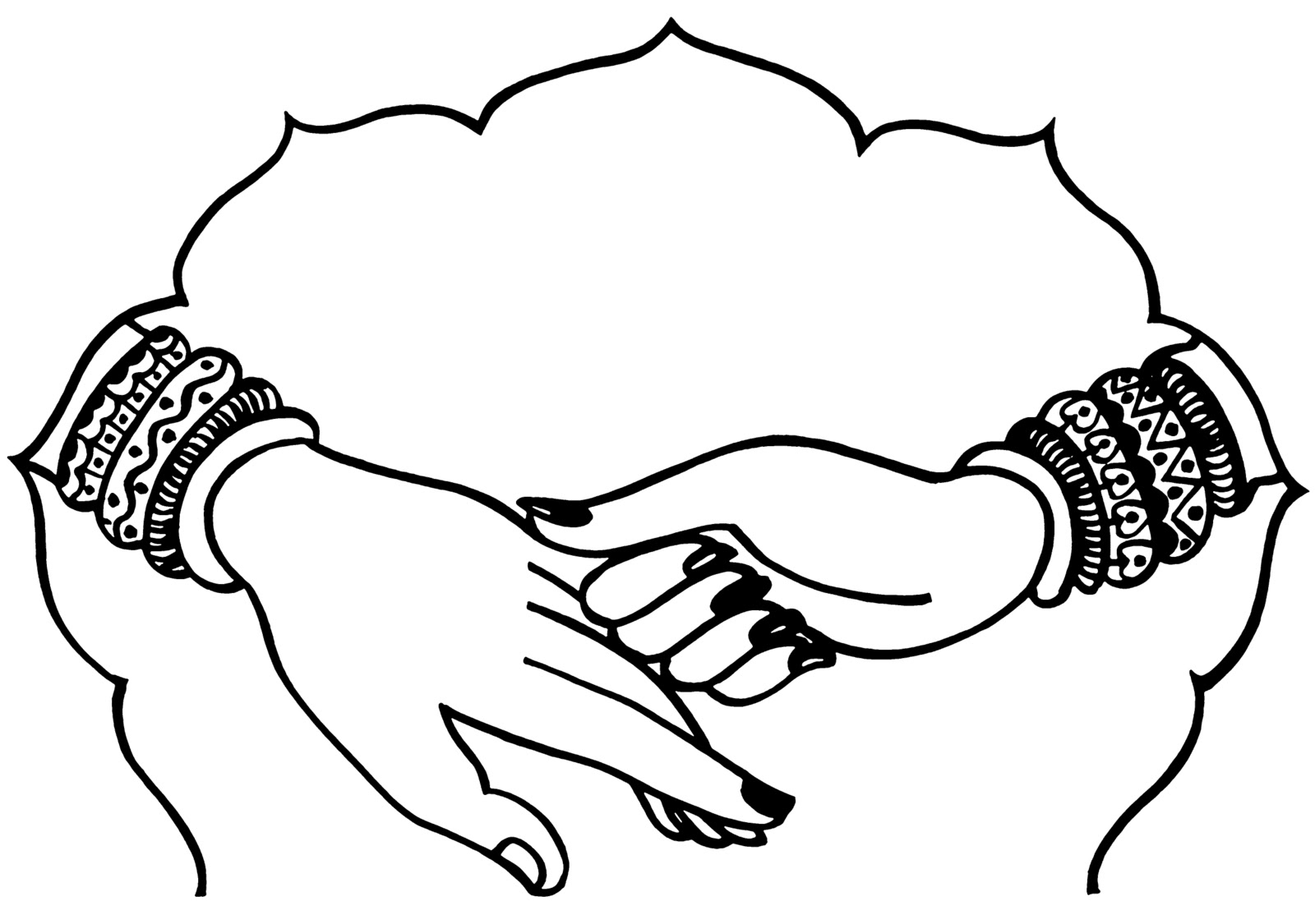 Praying Hands Clipart Black And White