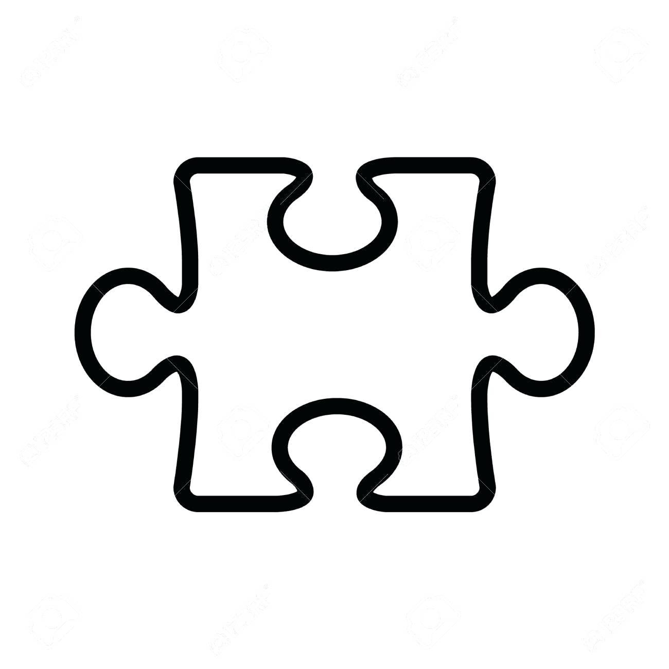 Puzzle Pieces Outline