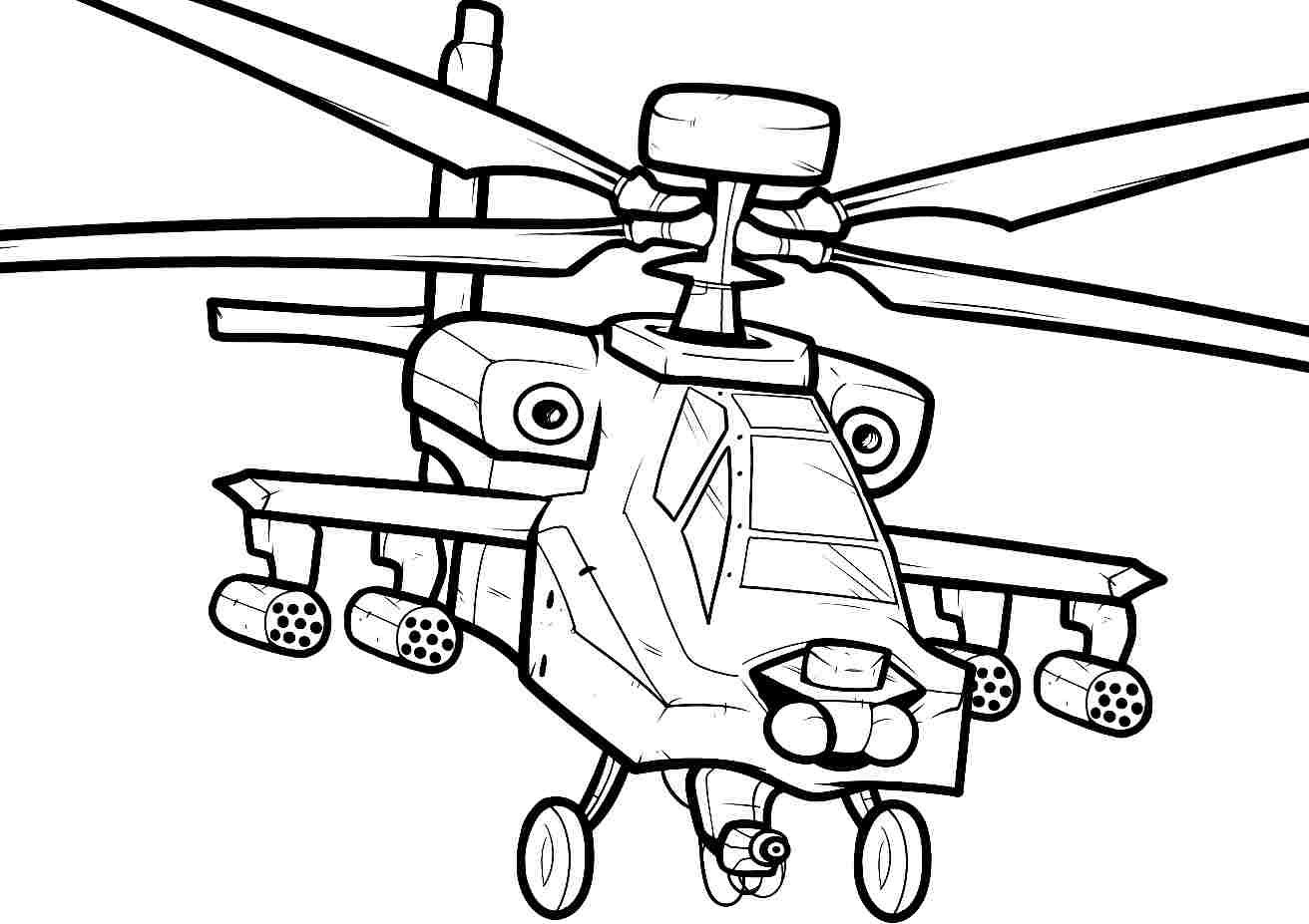 Rescue Helicopter Coloring Pages