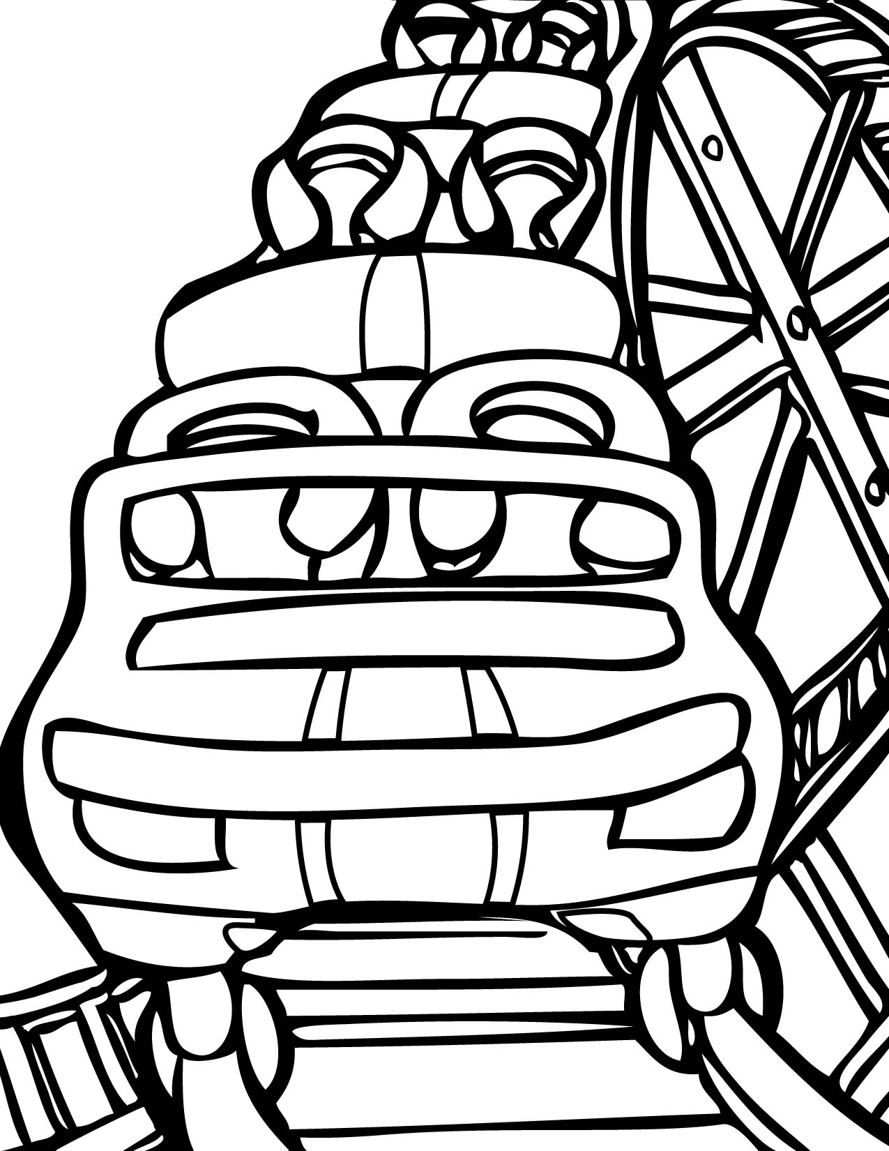 Roller Coaster Clipart Black And White