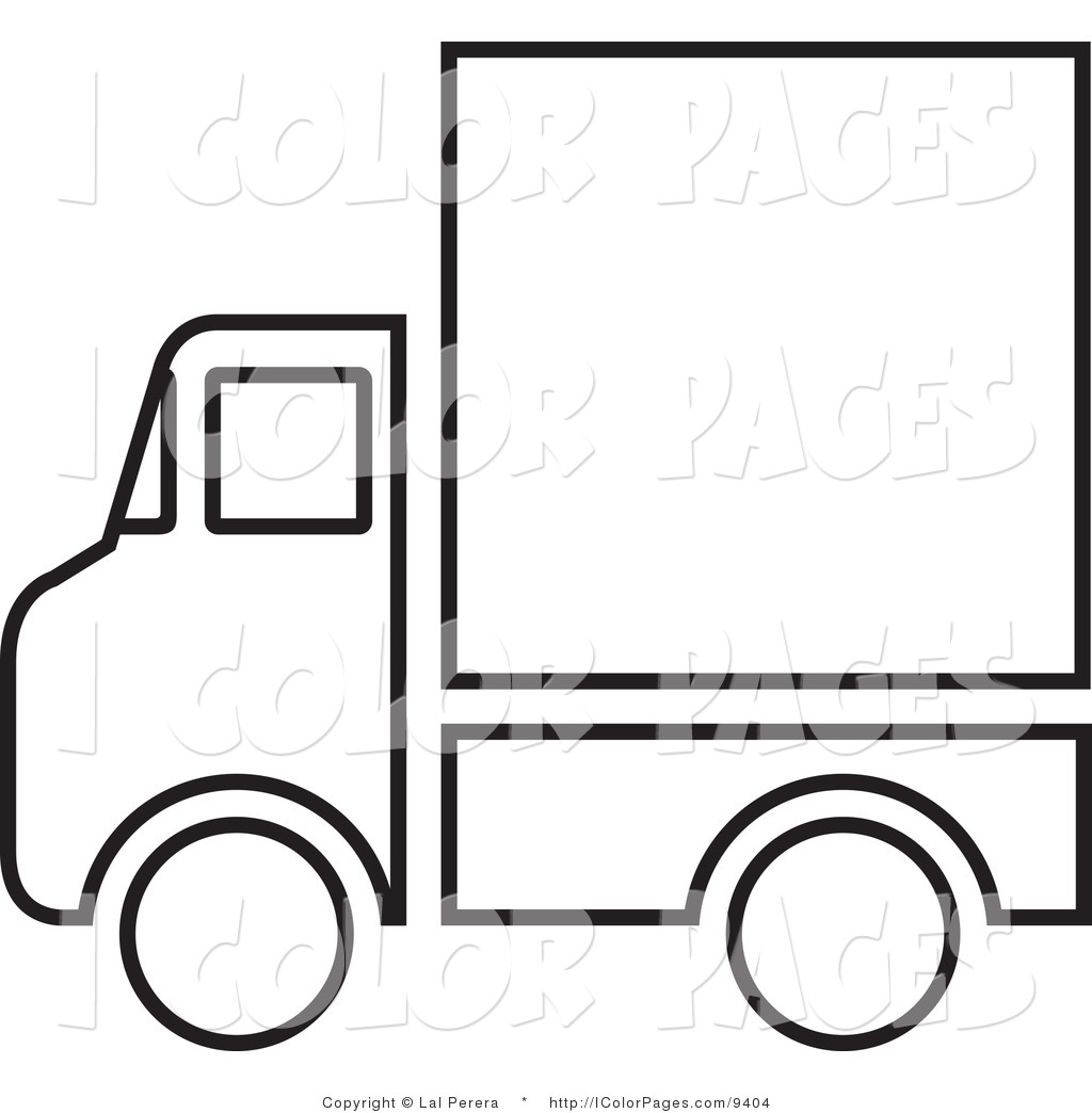 Semi Truck Clipart Black And White