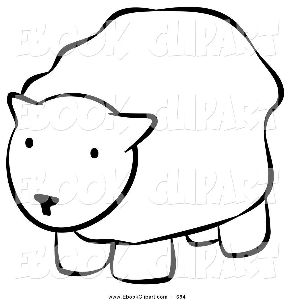 Sheep Clipart Black And White