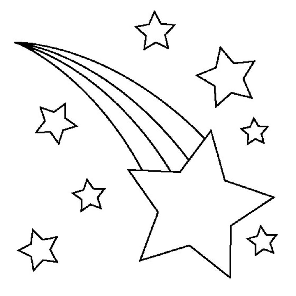Shooting Star Outline