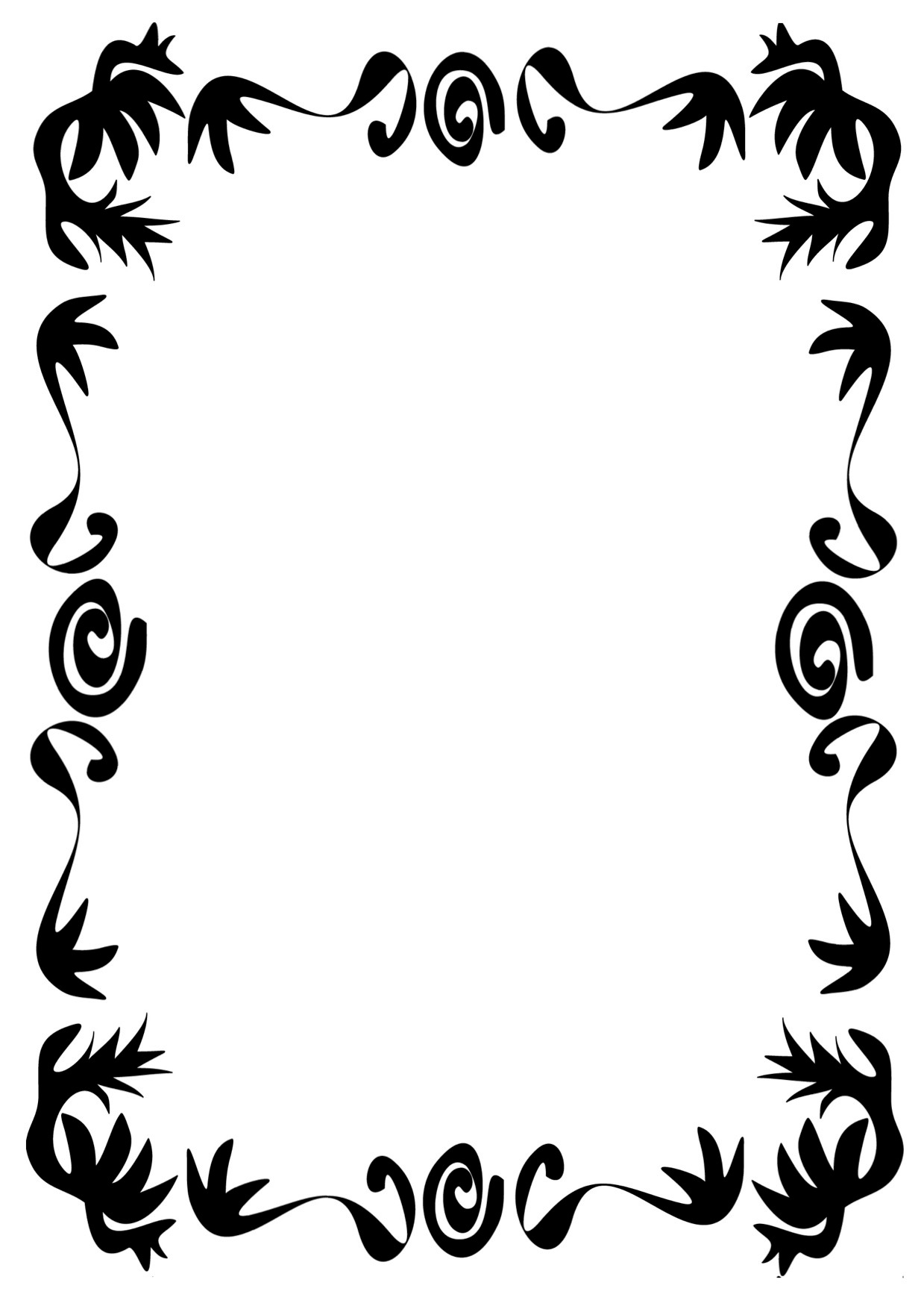 Simple Page Border Designs To Draw