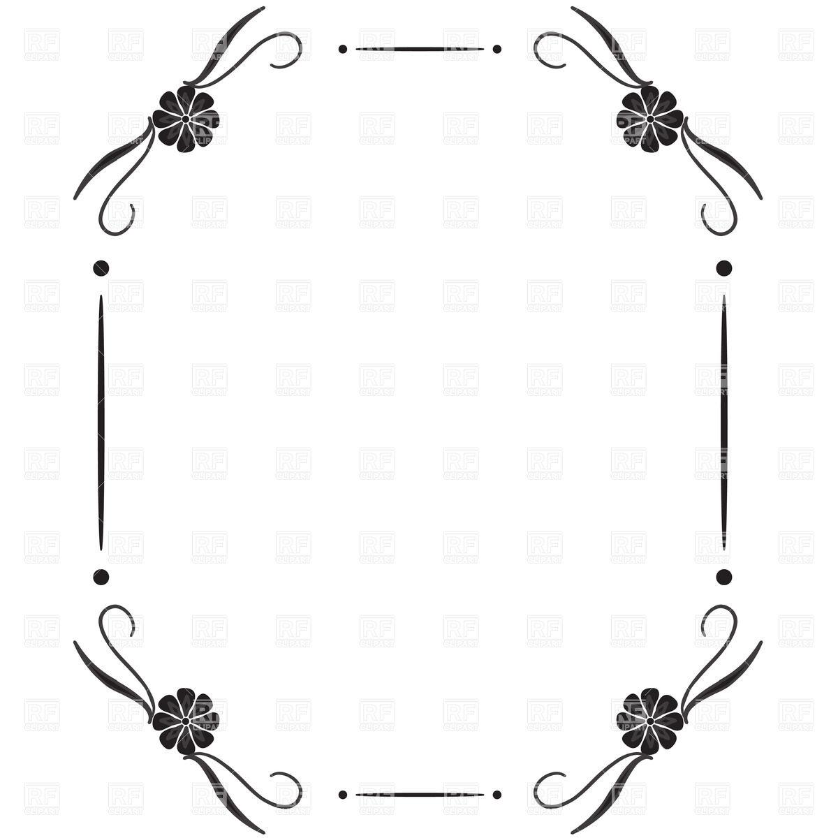 Snowflake Corner Clipart