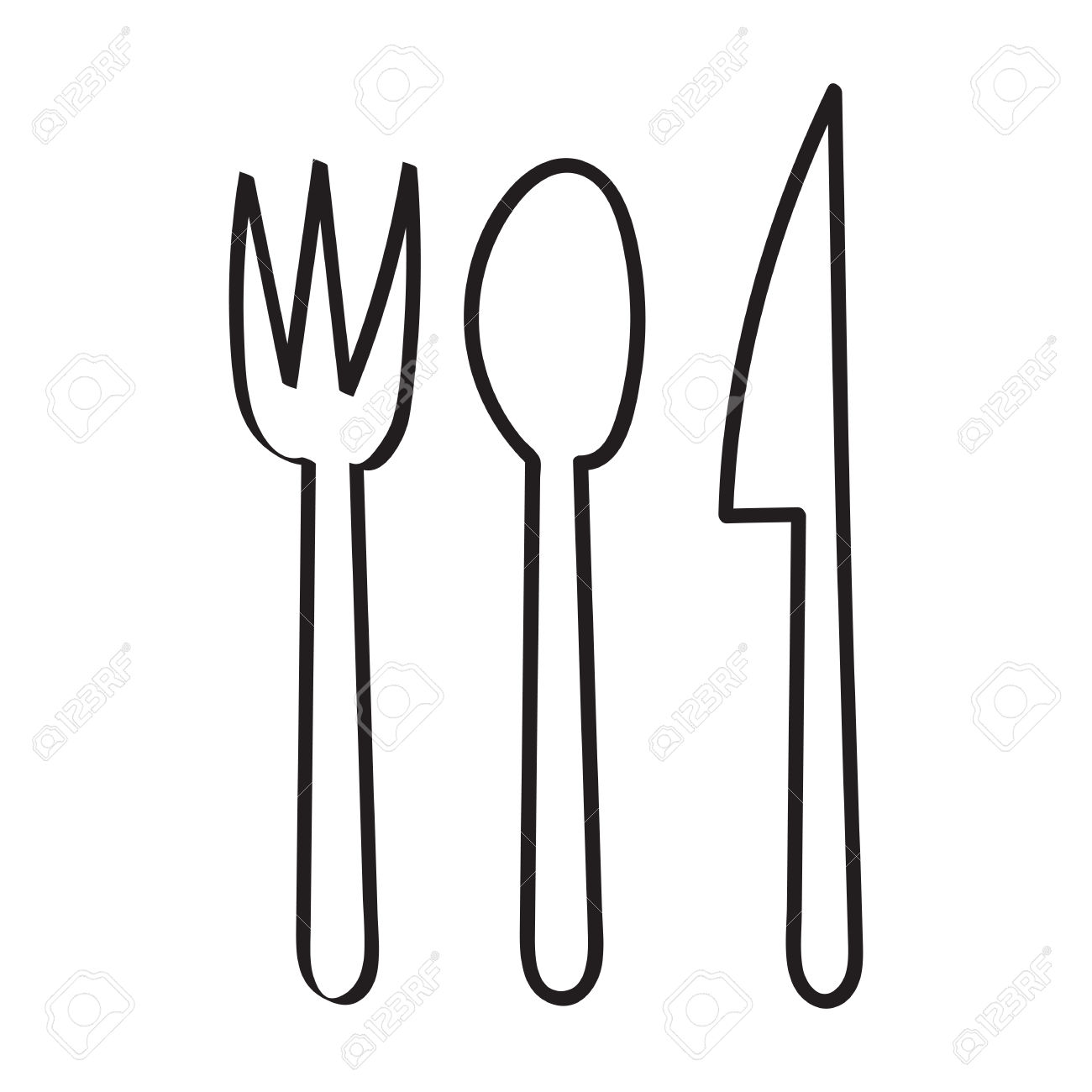 Spoon Fork Cliparts