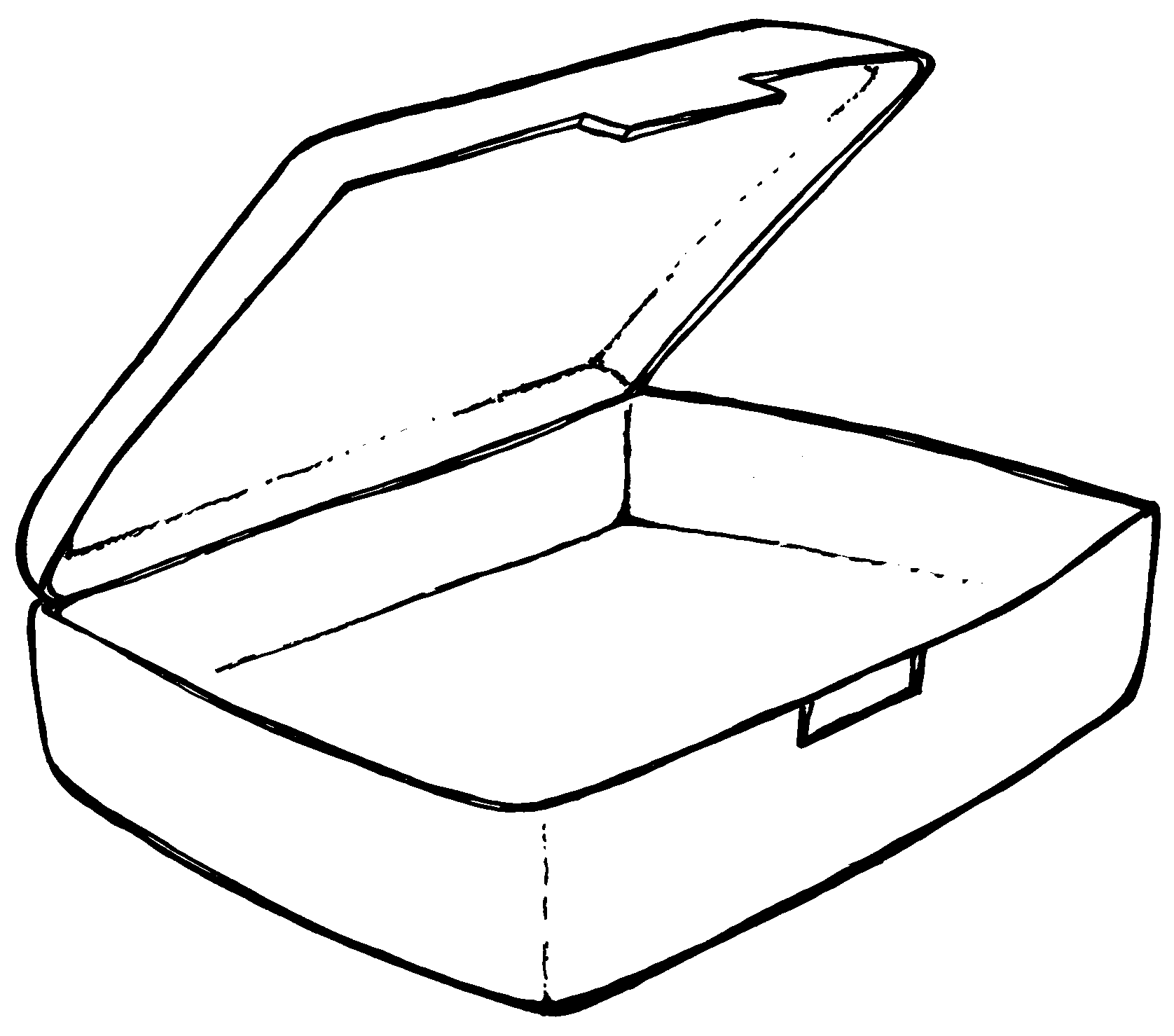 Suitcase Coloring Page Clipart
