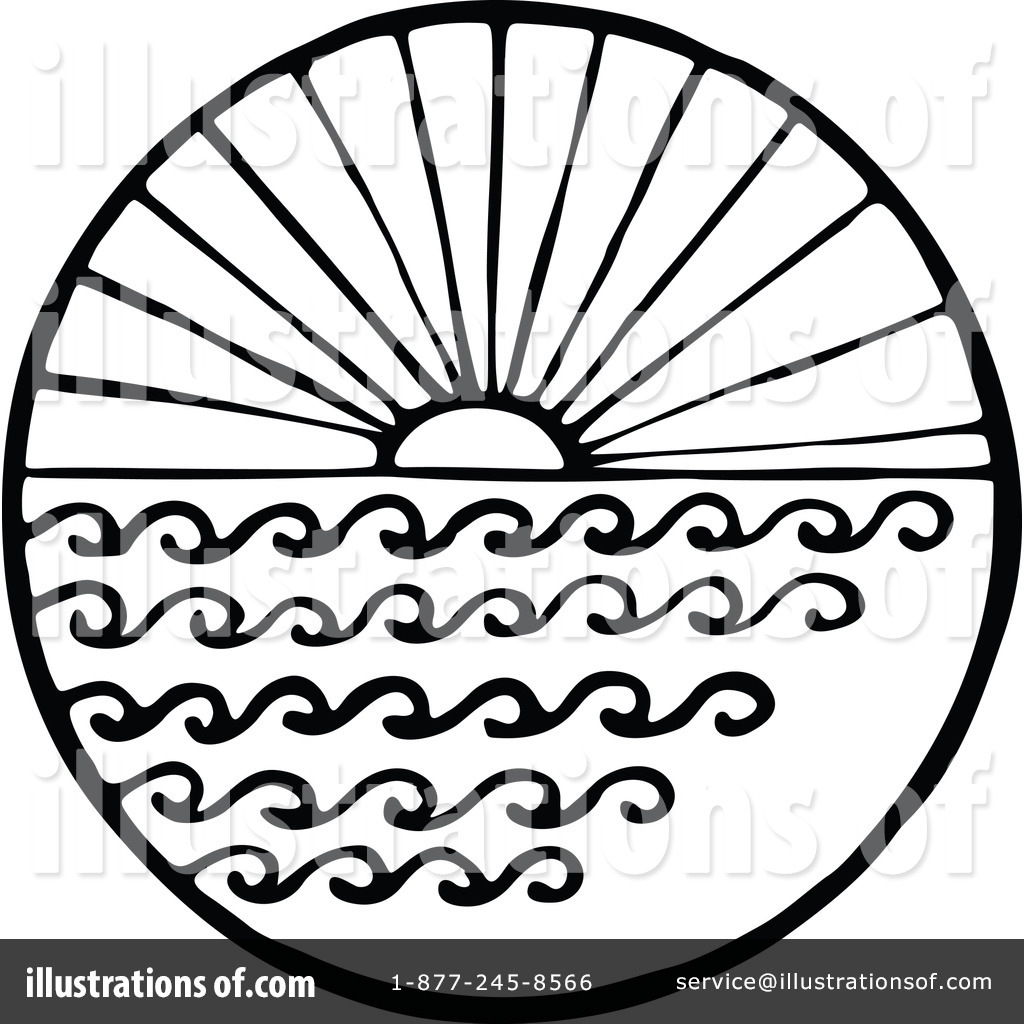 Sunrise Clipart Black And White