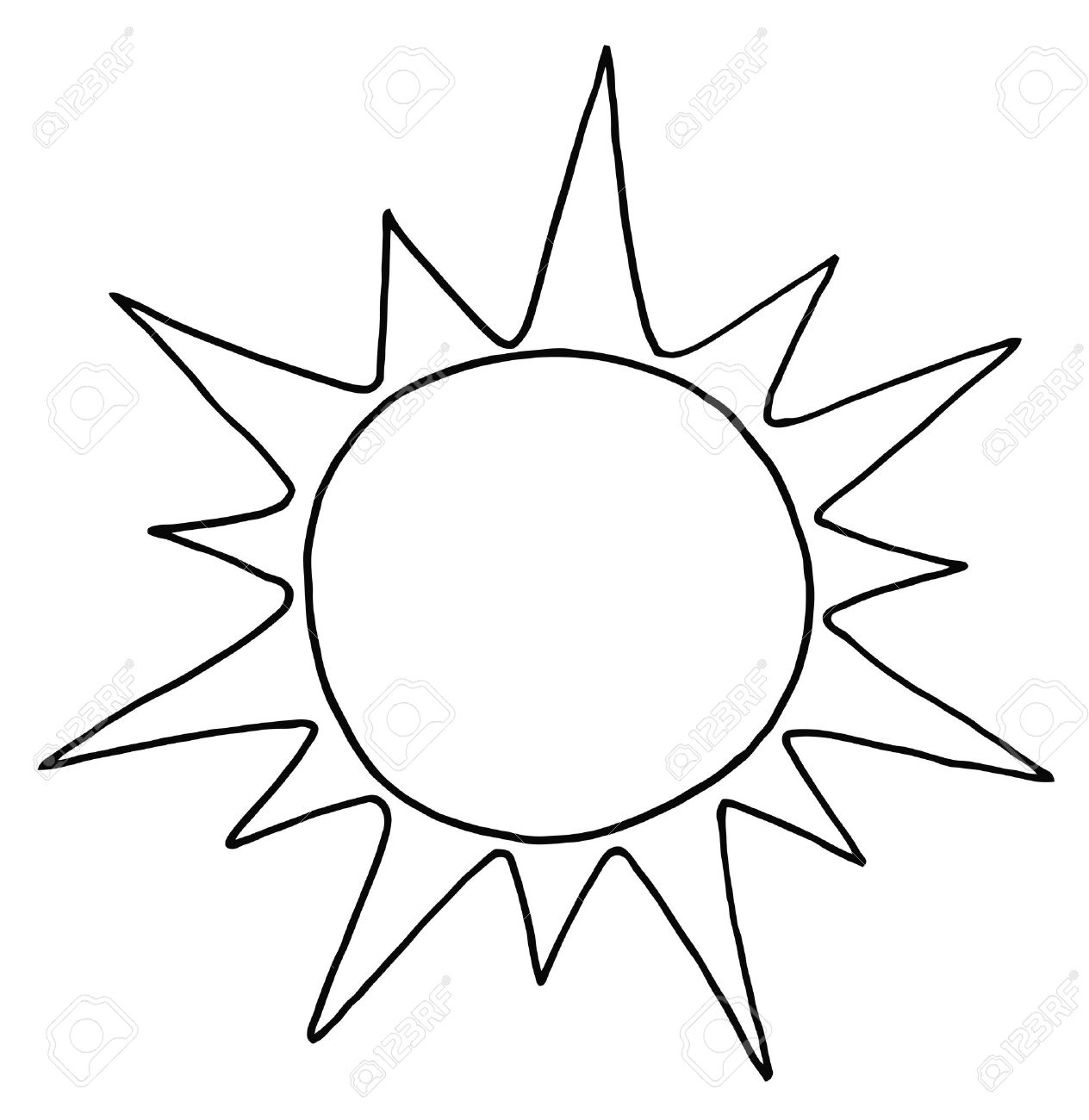 Sunshine Clipart Black And White