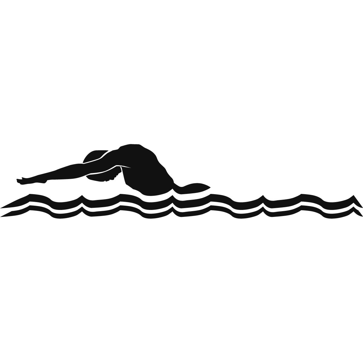 Swim Clipart Black And White