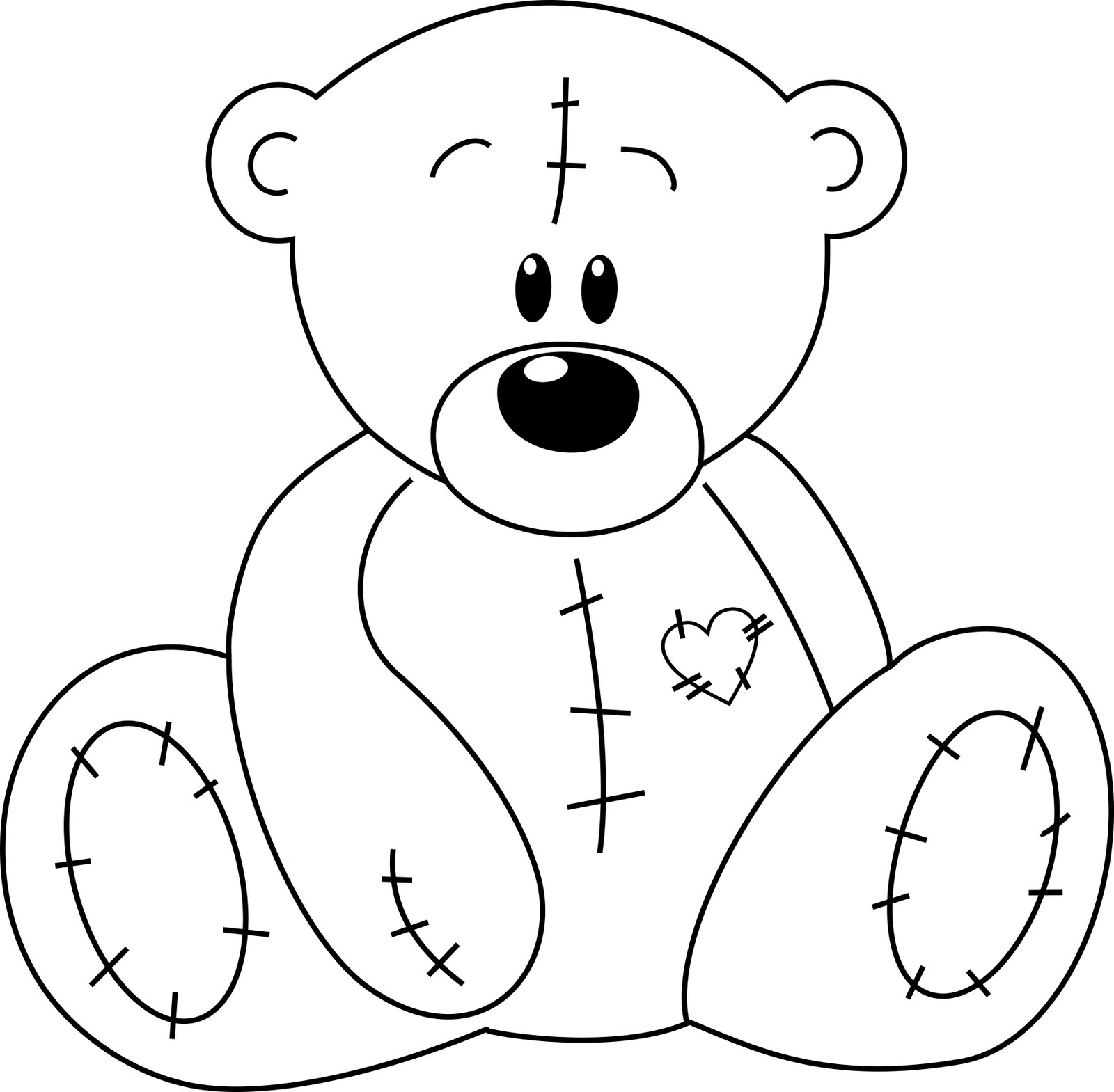 Clip Art Black And White Blanket And Teddy Bear