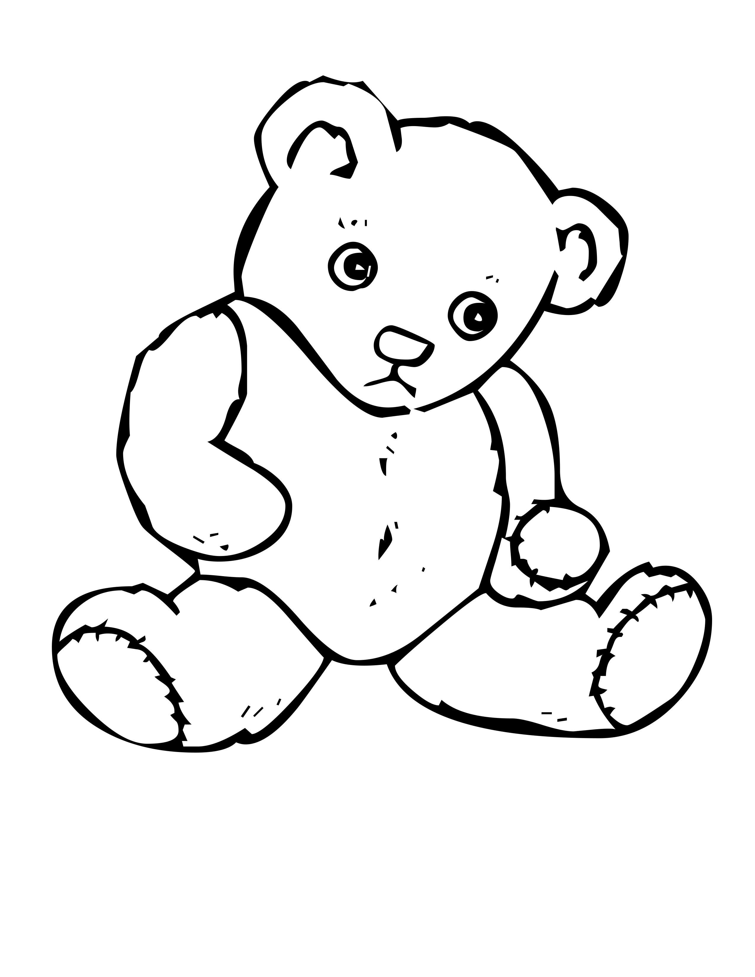 Teddy Bear Head Outline