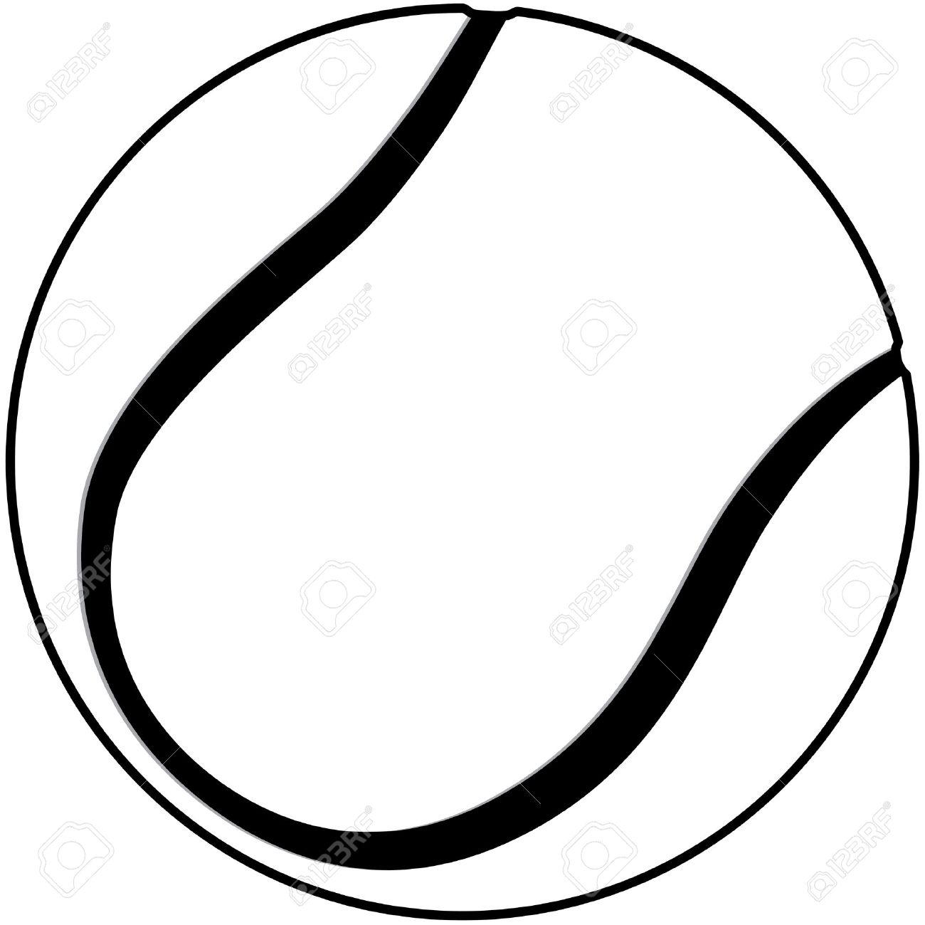 Tennis Ball Black And White