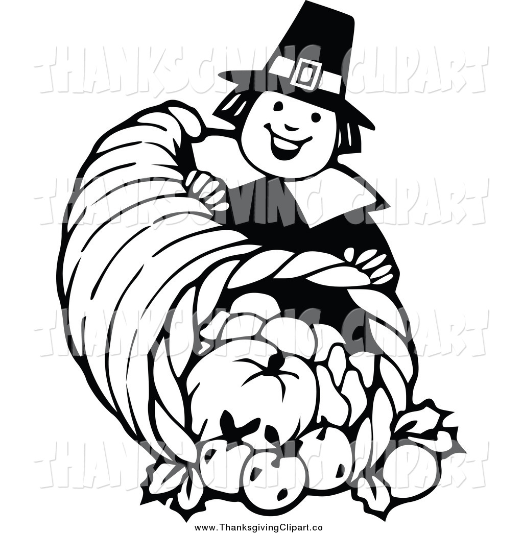 Thanksgiving Black And White Clipart