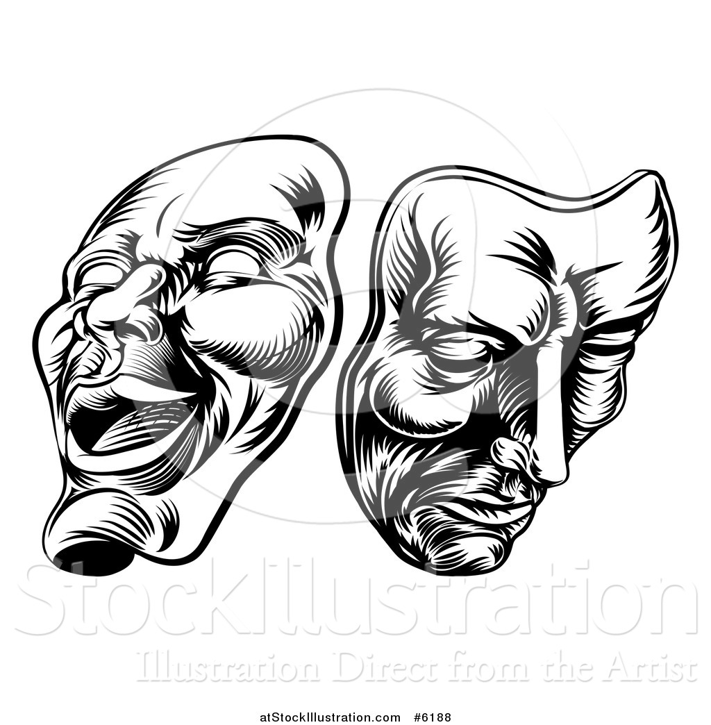 Theatre Faces Clipart