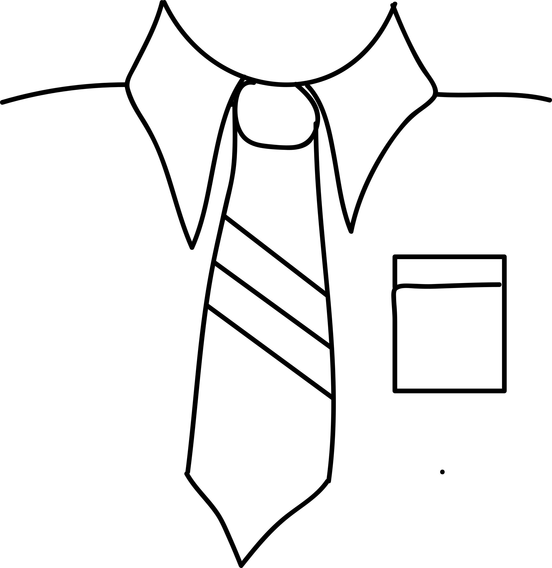 Tie Clipart Black And White