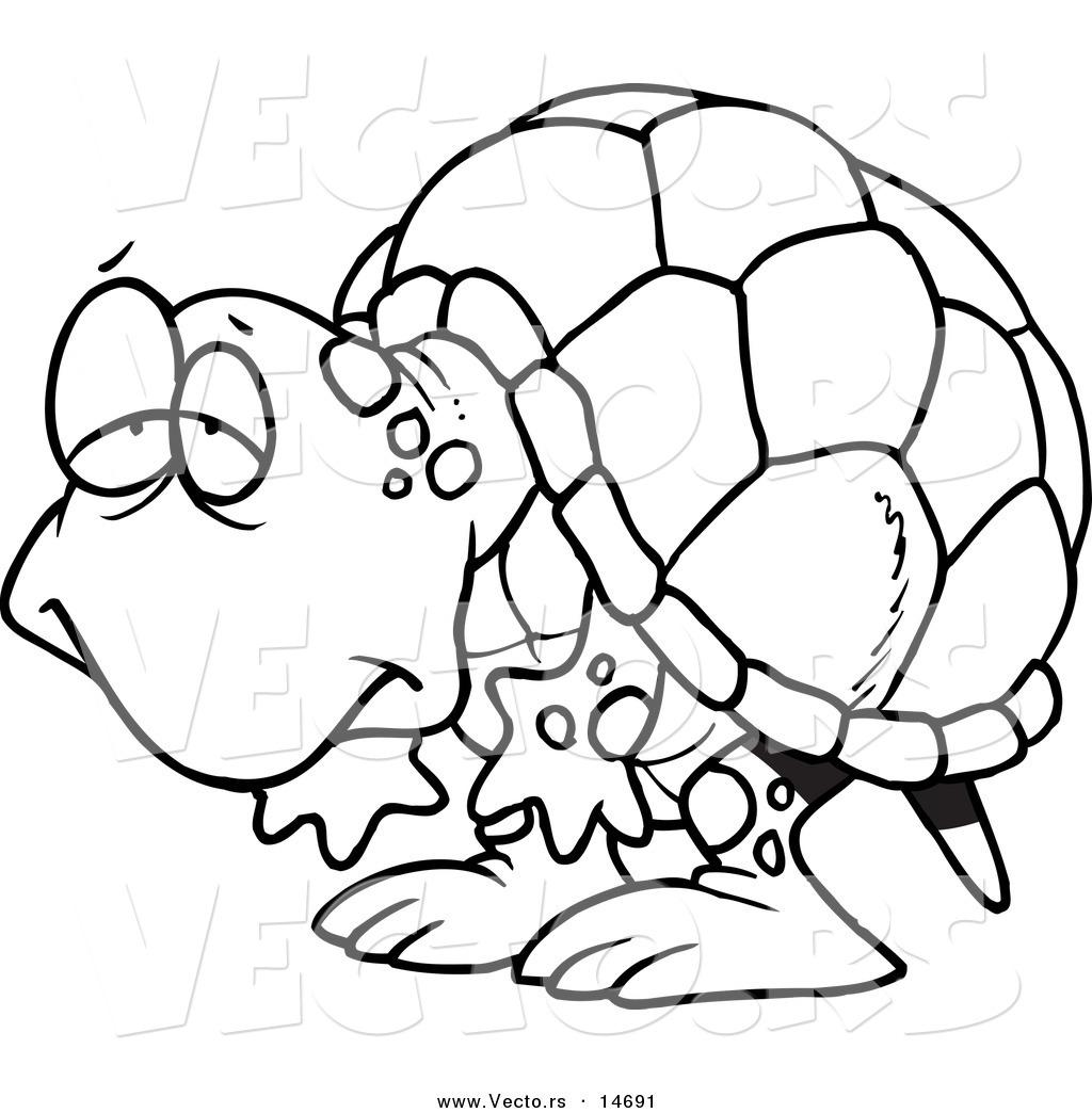 Tortoise Clipart Black And White