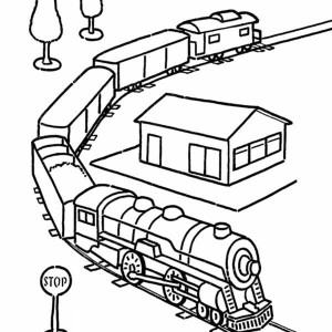 train color pages free printable # 77