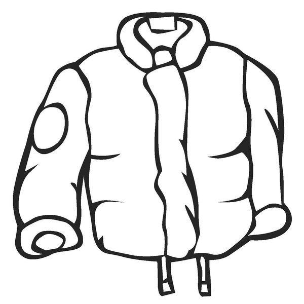Clip Art Black And White Winter Coat