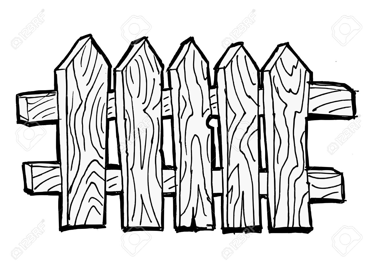 Wooden Fence Cliparts
