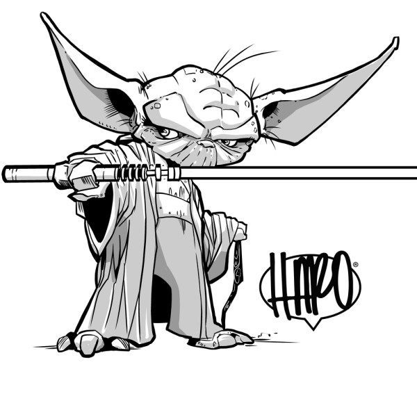 Yoda Clipart Black And White | Free download on ClipArtMag