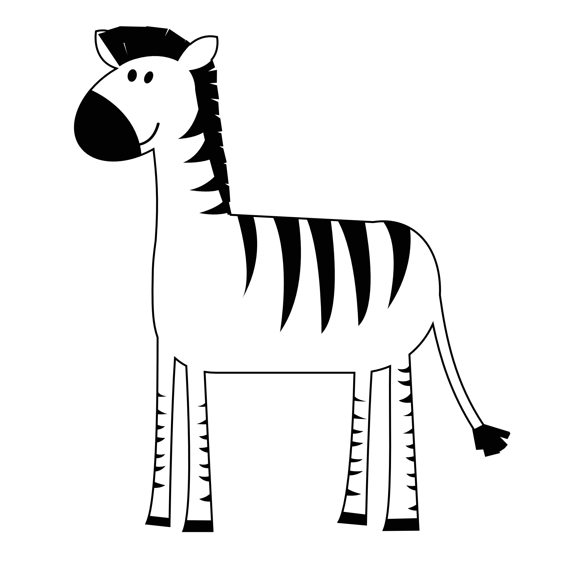 Zebra Black And White Clipart