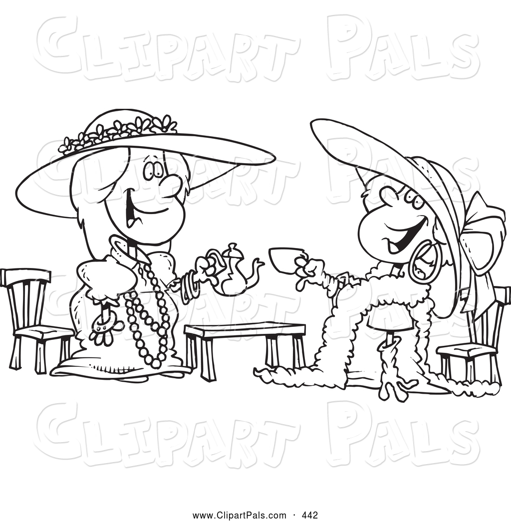 Pal Clipart Of A Black And White Coloring Page Outline