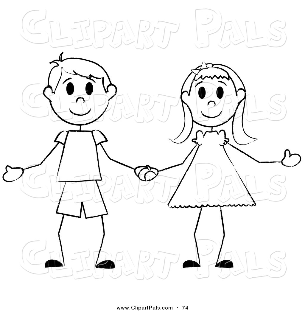 Royalty Free Stick Person Stock Friend Designs