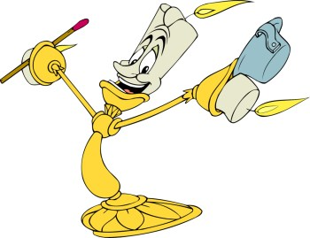 Disney's Beauty and the Beast Character Lumiere Clipart Image 1 ...