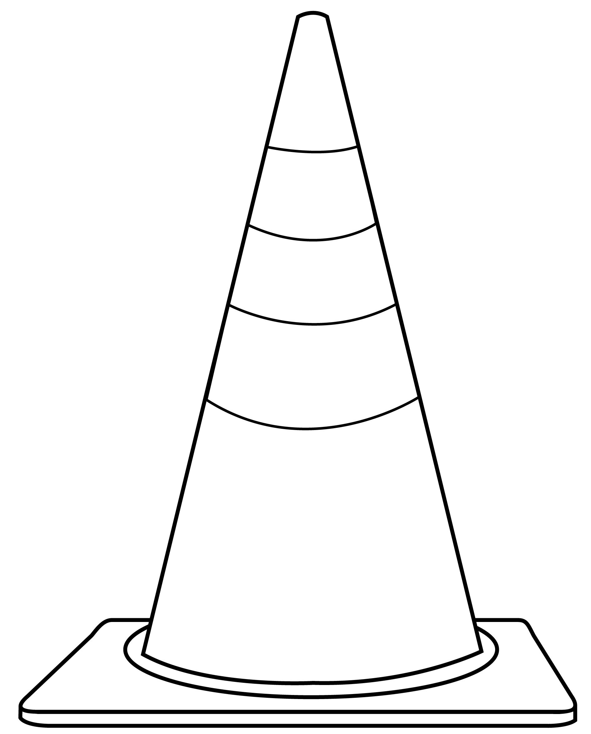 Coloring Pages Of Safety Cones Coloring Pages