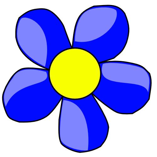 Blue Flower Clipart - Cliparts.co