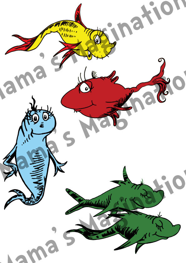 Dr Seuss Fish Clip Art