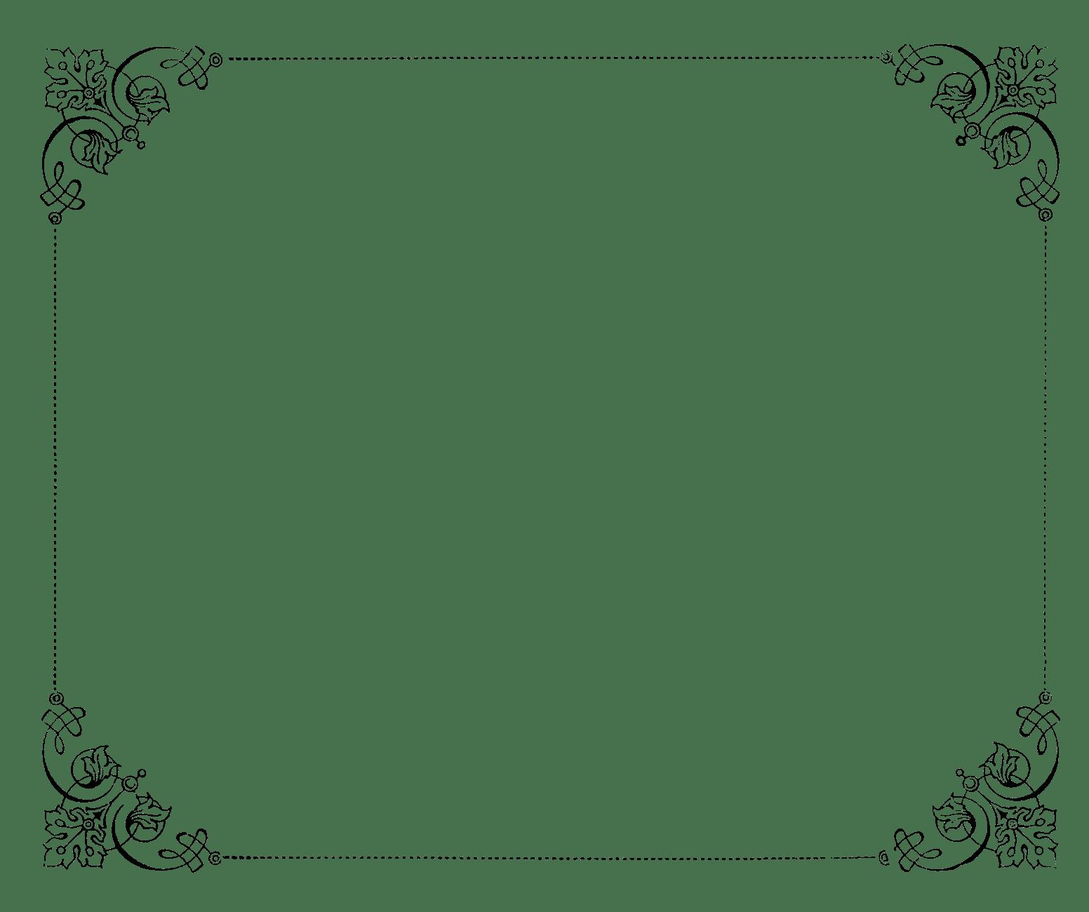 Elegant Page Borders Clip Art
