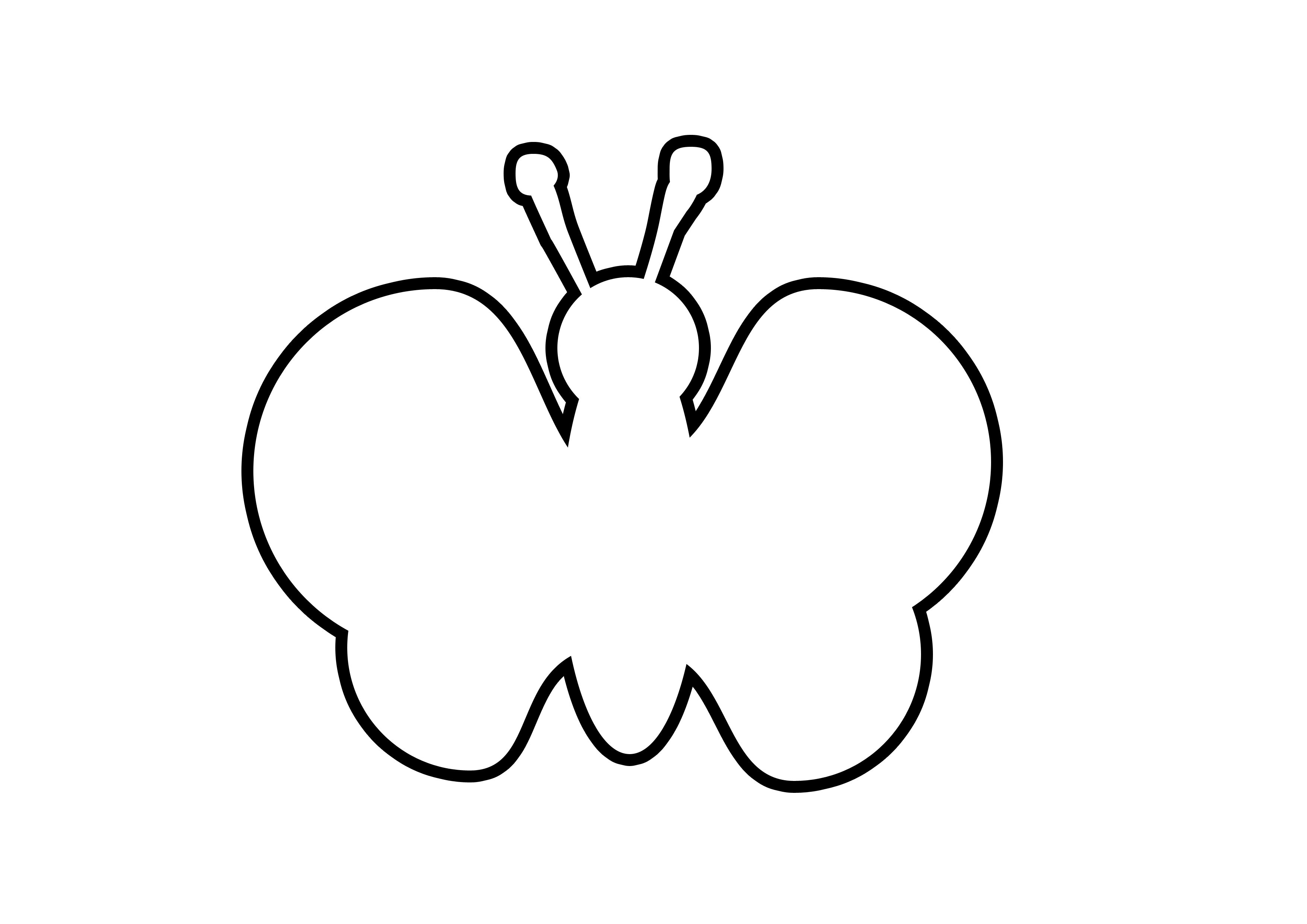 Butterfly Outline Template