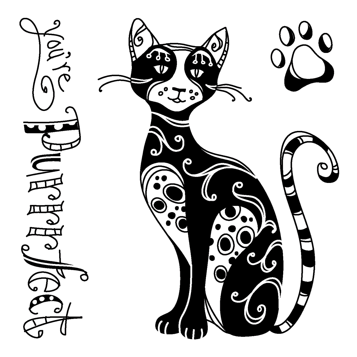 Cat Graphics Silhouettes 107 Pins